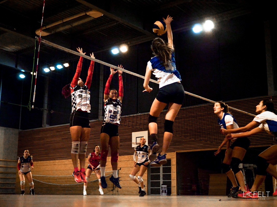 photographie sportive pour l'equipe de volley ball annecy feminine en pré nationale by lafelt