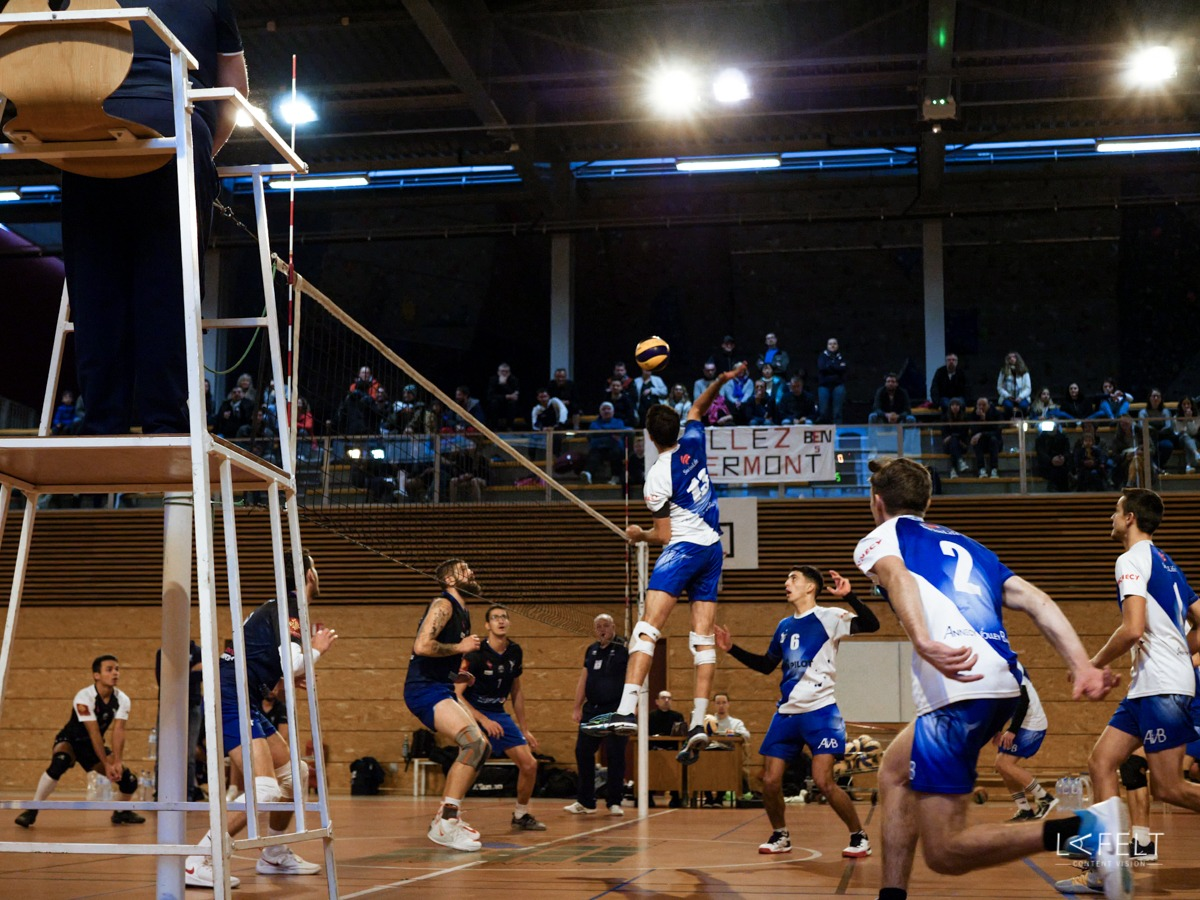 photographie pour l'equipe nationale du club annecy volley ball