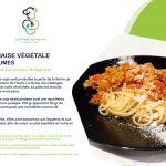 bolognaise plats signature bio pour la marque neaclub