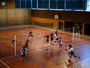 photographie sportive pour l'equipe de volley ball annecy masculine en nationale by lafelt
