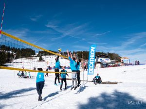 1er tournoi de snow volley officiel en France vidéo 4K avec Drone