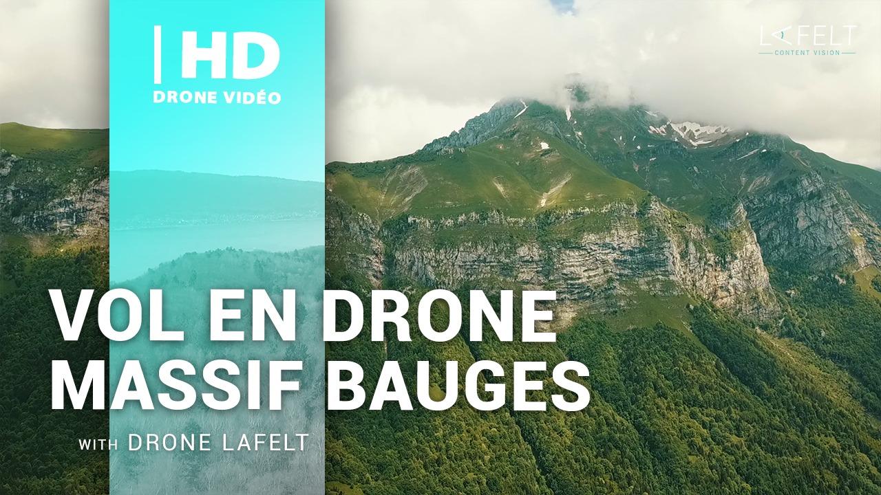 vidéo randonnée massif des bauges et vol en drone au dessus des montagnes