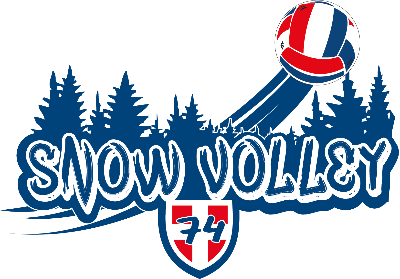 logo tournoi snow volley 2020