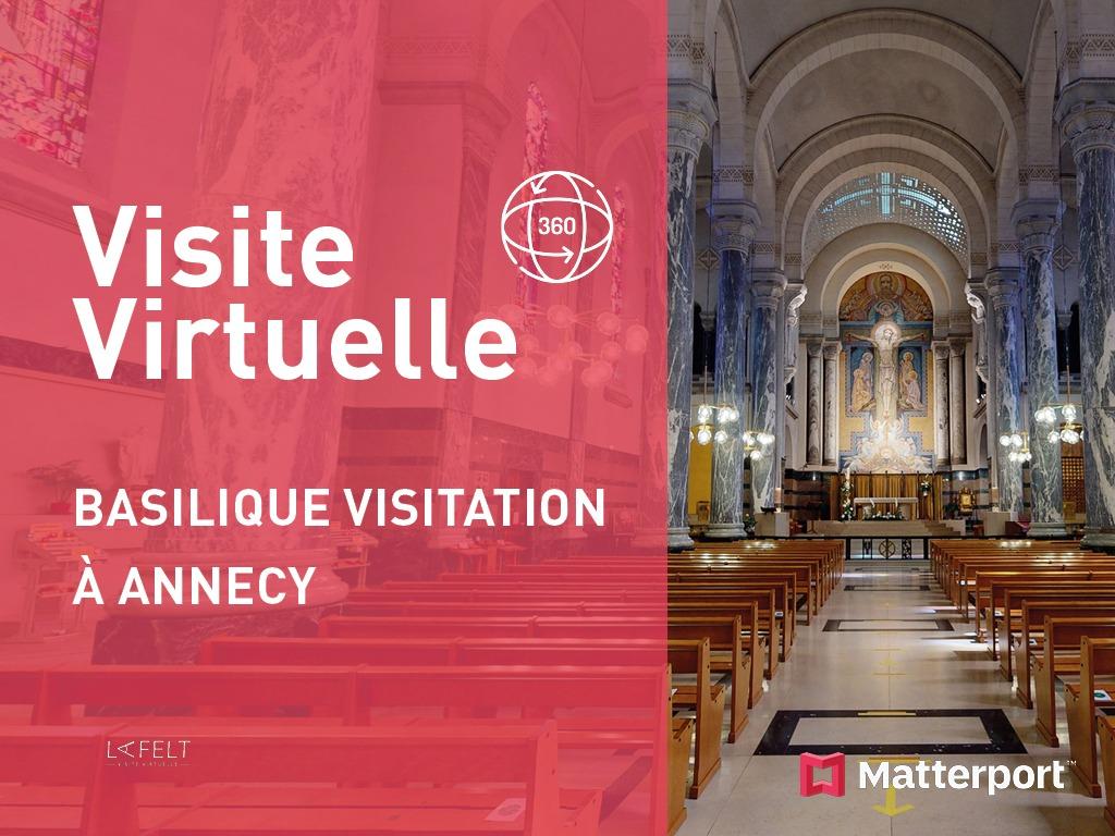 miniature basilique de la visitation à annecy en drone et visite virtuelle 360