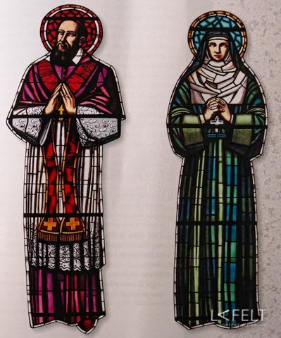 vitraux basilique de la visitation à annecy lafelt